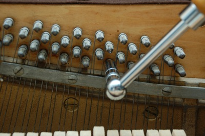 Tensioning Piano strings