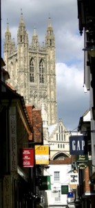 Canterbury High Street and Cathedral