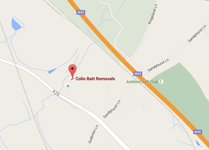 Colin Batt Removals Map