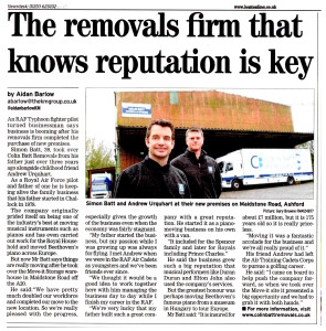 Removals Firm Reputation Article Kentish Express