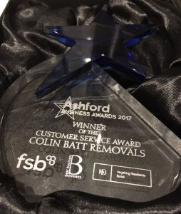 Customer Service Award - Ashford Business Awards 2017
